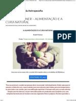 Rudolf Steiner – Alimentação e a Cura Natural (BVA)