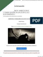 Rudolf Steiner - Sabedoria, Consequência Da Dor e Do Sofrimento (BVA)