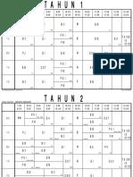 Jadual Waktu Sk Pandiwan 2015- Kelas