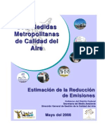 Seis Medidas Metropolitanas de Calidad del Aire Mexico DF 2008