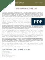 CFP - Caribbean Literature