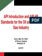 API Introduction and API HF Standards Overview - April 2011