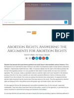 abortion rights  answering the arguments for abortion rights - christian research institute