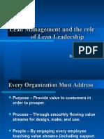 Lean Leadership Ppt