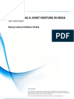 Establishing A Joint Venture In India