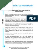 Declaración de Apoyo a la Paz y a la Justicia Social en Colombia. Covadonga Díaz