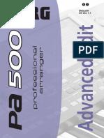 Korg Pa500-Advanced Edit Manual