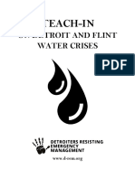 Detroit and Flint Water Struggles - Readings and Resources