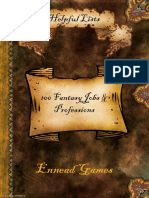 101 Fantasy Jobs & Professions