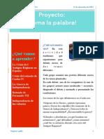 Proyecto Toma La Palabra PDF