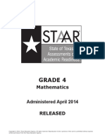 STAAR GRADE 4 2014 Test Math
