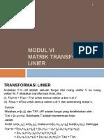 Aljabar Linier Transformasi Linier