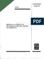 Norma covenin 3042-93 Grado Alcoholico