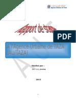 Rapport de Stage a L'agence Urbaine de Taza
