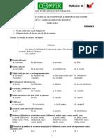 Subiect Si Barem LimbaRomana EtapaI ClasaII 10-11