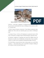 Contoh Teks Berita Bahasa Inggris Tentang Bencana Alam Gemba Bumi Di Nepal