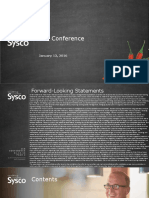 SYY Sysco Jan 2016 Investor Presentation