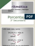Porcentajes - 3° Sec