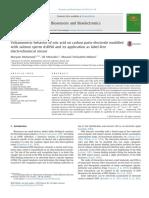 Voltammetric Behavior of Uricacid on Carbon Paste Electrode Modified