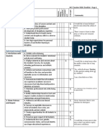 skills checklist ritarajenweebly
