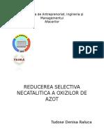 REDUCEREA SELECTIVA NECATALITICA A OXIZILOR DE AZOT