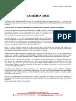 COMMUNIQUE de PRESSE - Plan de Licenciements General Electric Massy - 14 01 2016