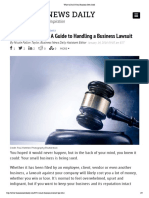 What to Do if Your Business Gets Sued