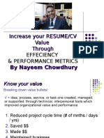 Increase Your CV by Performace Matrix