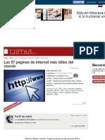 Ranking de Las 57 Paginas de Internet Mas Utiles Del Mundo - Listas en 20minutos Es