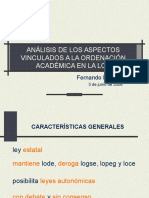 Ordenacin Acadmica en La Loe Lpez Tapia