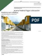 10 - 01 - 2016 Sociedad Hipotecaria Federal logra colocación histórica en créditos – Publimetro