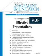 The Managers Guide to Effective Presentations