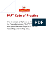 Royal Mail PAF Code of Practice