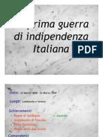 La Prima Guerra Di Indipendenza Italiana