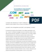 Los Dominios de Las Paginas Web PDF