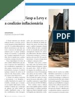 A Critica da FIESP a LEVY