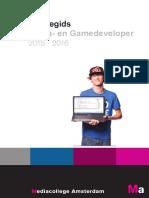 Studiegids 2015-2016 Media- En Gamedeveloper
