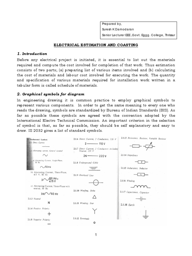 Famous Estimation Of Electrical Wiring competitive products examples ...