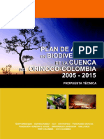 PLAN DE ACCIÓN EN BIODIVERSIDAD DE  LA CUENCA DEL ORINOCO – COLOMBIA/ 2005-2015 - PROPUESTA TÉCNICA