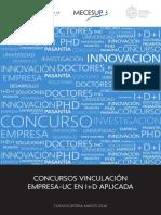 Concursos Vinculación Empresa-UC en I+D Aplicada