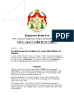 Episcopal See of Debre Zeit's Civil Grand Jury Indictment