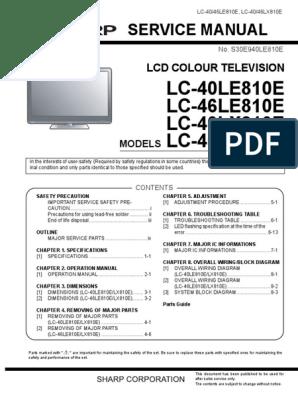 LC-40LE810E | Hdmi | Soldering