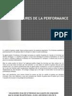 Les Mesures de La Performance