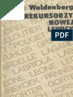 Marek Waldenberg - Prekursorzy Nowej Lewicy
