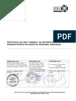 GCL 3.3.6 Protocolo de Uso y Manejo de an Tisépticos y Desinfectantes HRR V1 2013