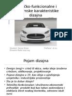 Tehničko-funkcionalne i Ekonomske Karakteristike Dizajna (Kemal Biser)