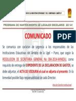 Comunicado Mantenimiento 19-08-2014
