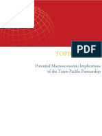 Potential Macroeconomic Implications  of the Trans-Pacific Partnership