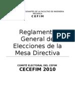 Propuesta de Reglamento - Comite Electoral CEFIM UNI FIM