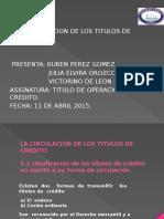 La Circulacion de Los Titulos de Credito.